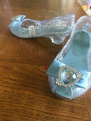 Sz 2/3 Gently Used Disney Store Princess Cinderella Costume Dress Shoes Toddler
