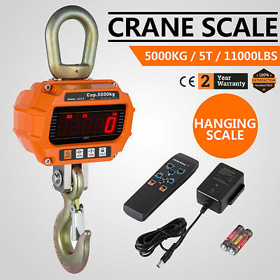 5T Digital Crane Scale 5000KG 11000LBS LCD  Auto power-off  Voltage display
