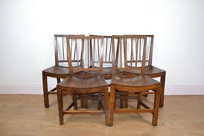 5 GEORGE III Oak Dining Chairs
