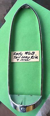 MG: MGB Early 1962 to 1969 tail lamp rim, Bright Used