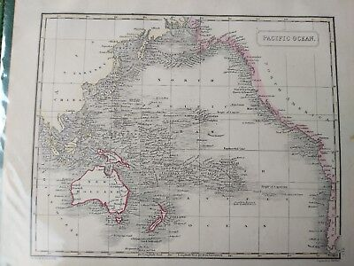 1847 PACIFIC OCEAN HAND COLOURED MAP FROM Arrowsmith's New General Atlas