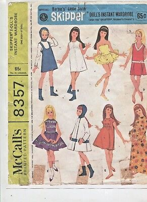 Vintage -1966- Skipper-Pepper Etc.- Doll Instant Wardrobe Pattern -#8