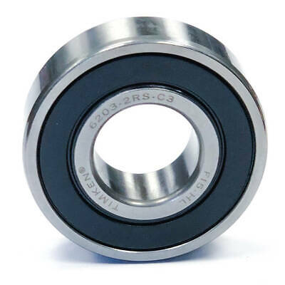 Timken 6203-2RS-C3 Double Sealed Ball Bearing, 40mm x 17mm x 12mm, 6203-2RS
