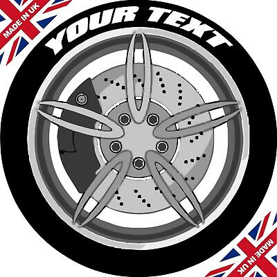 Custom Design Set Of 4 Tyre Stickers / Permanent / 3D / Tyre Lettering