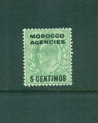 Morocco Agencies Spanish Currency 1907 5c KEVII Mint SG112