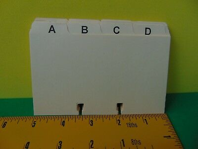 "25 A-Z 3 x 5"" Rotary Card Alphabet Index Tabs Dividers for Rolodex Cardfile"