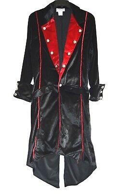 Vampire Coat Black Twilight Velvet Adult Size M Medium Costume by Charades USA