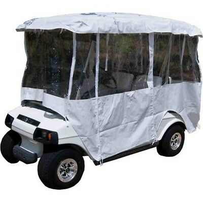"Universal White 4 Passenger Enclosure Vinyl Cover For Golf Carts w/80"" top"