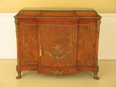 F45226EC: French Louis XIV Style Marble Top Sideboard Cabinet