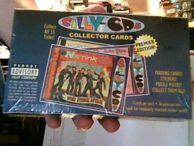 Box of 36 Packs of Silly CD's Collector Trading Cards NEW/SEALED,COLLECTIBLE