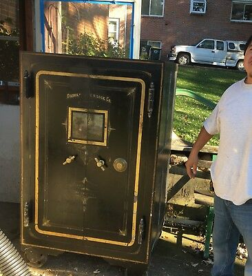 1860 DIEBOLD SAFE and Lock Co  Safe - Northwest Chicago Antique Vintage