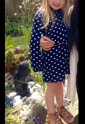 Next Navy White Dot Playsuit Age 6