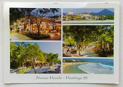 Hastings St Noosa Heads Laguna Bay Main Beach Mt Cooroy 2010 Postcard (P335)
