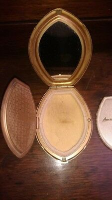Vintage Compact American Beauty by Elgin American Makeup Mirror Compact