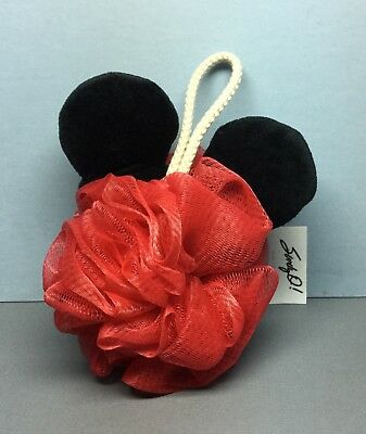 Disney Junk Food Mickey BATH POUF with Ears (NEW)