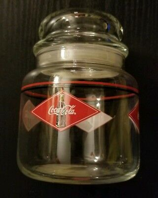 Coca Cola Glass Canister
