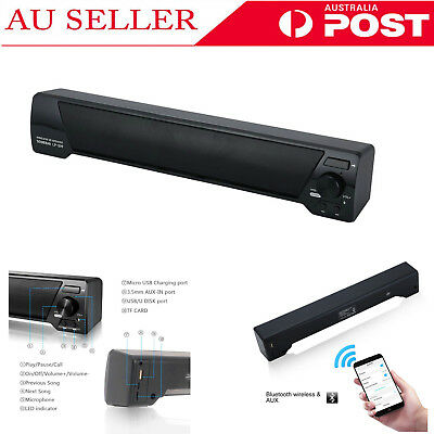 USB Multimedia Audio Stereo Sound Bar Soundbar Speaker For Computer PC Laptop