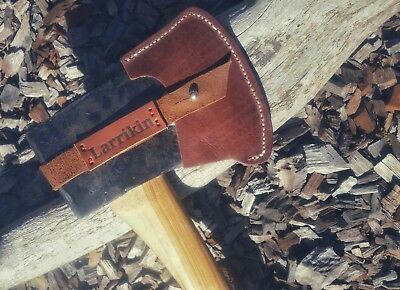 WC Kelly Perfect axe with new custom painted Hickory handle and fitted sheath