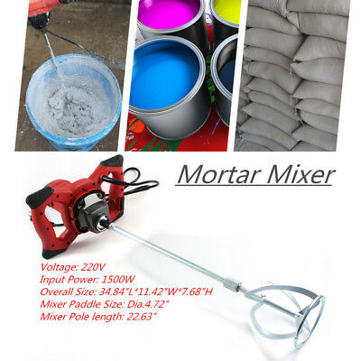 Portable Hand Held Cement Plaster Mixer Stirring Tool 6 Speed 1600W UK STOCK