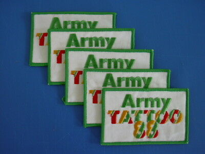 ARMY TATTOO 1988 - 5 PATCHES.  Royal Australian Army RAA R.A.A.