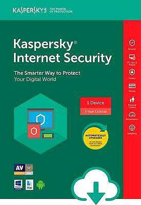 KASPERSKY INTERNET SECURITY 2018/2019 1 PC/ User / 1 Device /1 Year/ Global Key
