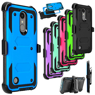 For LG Tribute Dynasty/ Rebel 3/ Zone 4 Phone Case Hybrid Shockproof Stand Cover