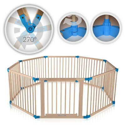 Playpen Play Pen Foldable Portable Room Divider Child Barrier Wooden Baby Vivo
