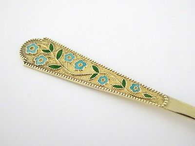 Antique Gold Gilt Over Silver Russian Enamel Teaspoon  LAYBY AVAIL