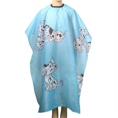 Waterproof Cartoon Fish Pattern Hairdressing Hair Cutting Cape Kids