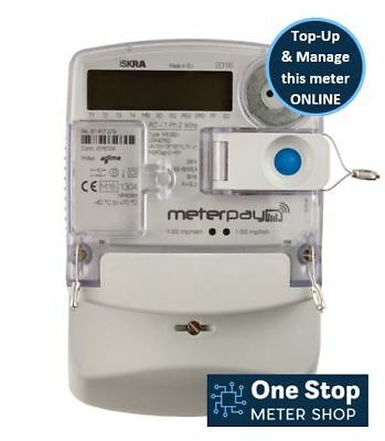 Iskra ME382 with MeterPay - Smart Prepay - Single Phase - Ideal for Landlords