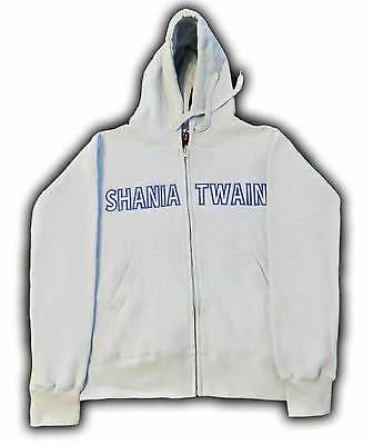 Shania Twain Licensed Light Blue Zip Up Hoodie Size Med *NEW* + now w/Free Gift