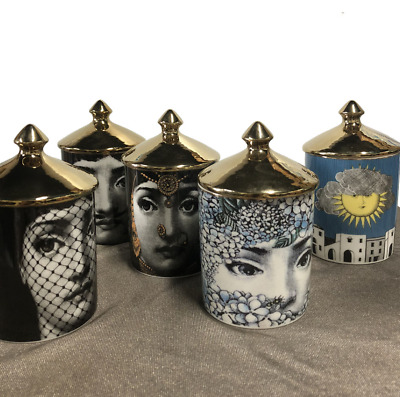 Vintage Fornasetti 12 Designs Candle Holders Storage Home Designer Decorative