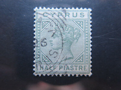 CYPRUS 1/2 PIASTRE POSTAGE STAMP in EXCELLENT COLLECTABLE CONDITION c1890s