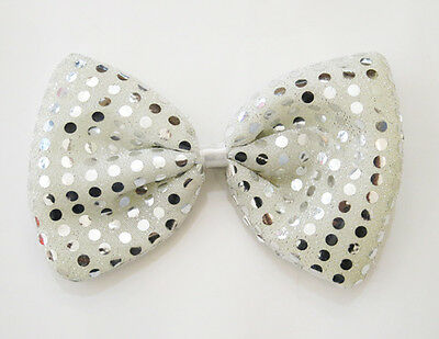 Jumbo Spotted Bow Tie Red /& White Polka Dot Clown Adult Fancy Dress Accessory