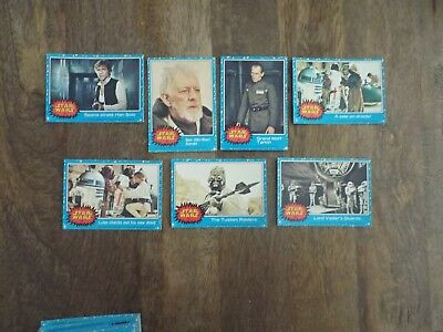 18 Star Wars Trading Cards - Topps 1977