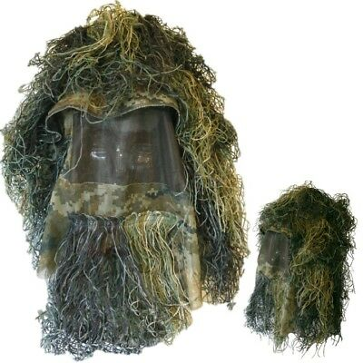 f07f7e27ed9 Mens Ghillie Hat Concealment Sniper Face Veil Disguise Airsoft Hunting Army