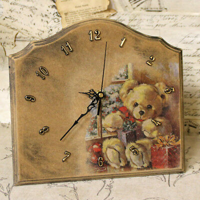 Vintage Clock Watch Movement Christmas Antikuhr Wooden Wall Country House