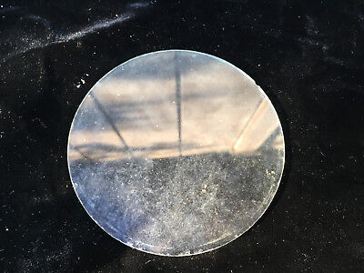 "Vintage 4"" Round Flat Clock Glass for Parts Repair ML204"