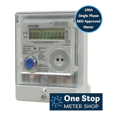 AEL.MF.11-1 - 100 Amp Single Phase MID Approved Electric Meter