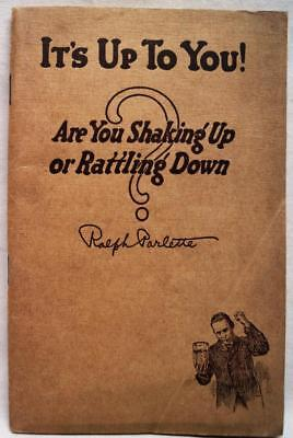 Its Up To You! Advice Self Help Booklet By Ralph Parlette 1918 Wwi Vintage