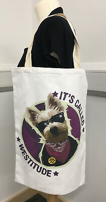 Westitiude Cotton Tote Bag Westie West Highland Terrier dog shoulder shopping