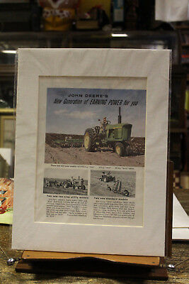 "Vintage John Deere Tractor Farm Advertisment Matted Ready to Frame 12"" x 16"""