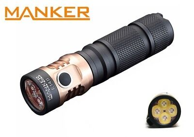 New Manker E14 II (White) Cree XP-G3 2200LM LED Flashlight ( NO Battery )