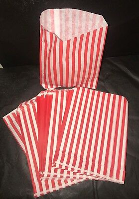 STRIPED CANDY PAPER BAGS SWEET bags  BUFFET WEDDING  GIFT SHOP-2 SIZES-100-1000