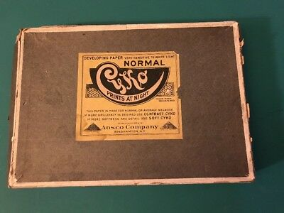 1918 CYKO PHOTOGRAPHIC PAPER SLEEVE Box Only BY ANSCO COMPANY