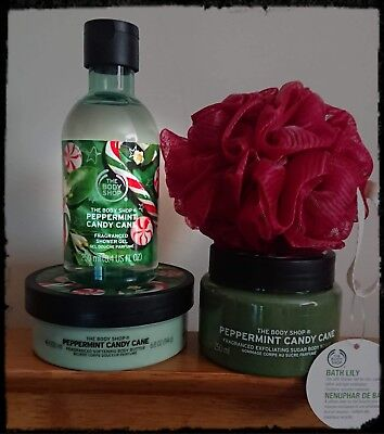 The Body Shop Peppermint Candy Cane Gift Set Christmas 19 99