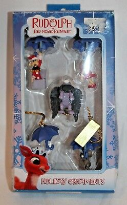 Enesco Rudolph the Red-Nosed Reindeer Mini Ornaments Misfit Toys Set of 5 New