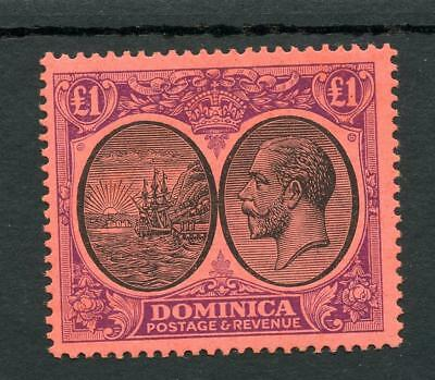 Dominica 1923-33 £1 black and purple on red SG91 fine fresh MNH