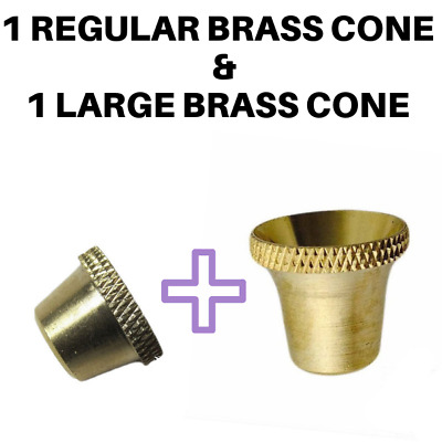 Regular & Large Bonza Bong Bucket Brass Cone Piece - Free and Fast Shipping