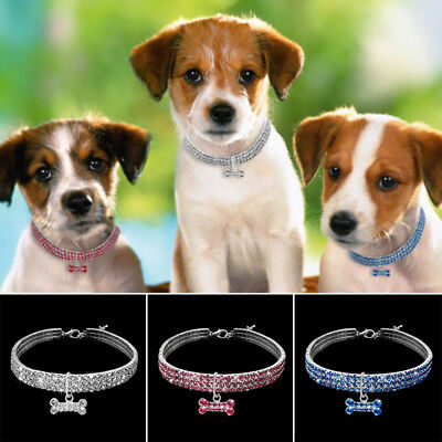 Bling Rhinestone Dog Necklace Collar Diamante & Pendant for Pet Puppy Nice Goods